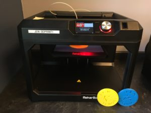 3D printer and coasters created with it