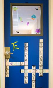 Integrated Vocational and Educational Skills Training Door with words in crossword