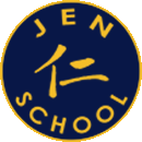 jen School logo with Chinese Jen Character and home page link