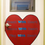 Room 508's Door with large heart