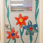 Room 401's Door with Flowers painted